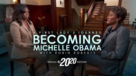 robin roberts michelle obama special abc s michelle obama special uses text heavy name