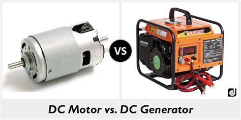 electric motor and generator difference difference between dc motor and dc generator
