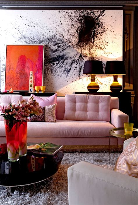 Pink Sofa Living Room Designs Design Trends How To Decorate Living Room With Sofa