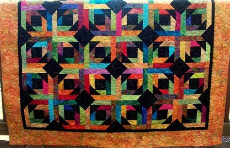 Batik Quilt by Geometric Quilt Modern Batik Quilt Quilt 60 X 60 Inches