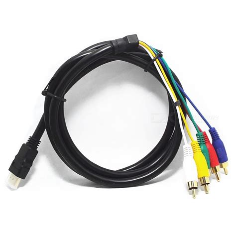 Kabel Vga 1 5m Gold Plated gold plated hdmi to component audio 5 rca cable 1