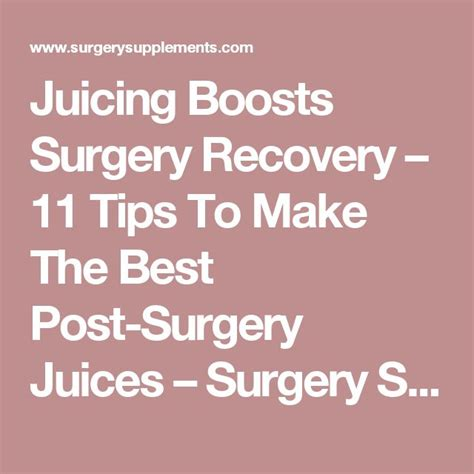 Tips For A Successful Surgical Recovery by 25 Best Ideas About Surgery Recovery On