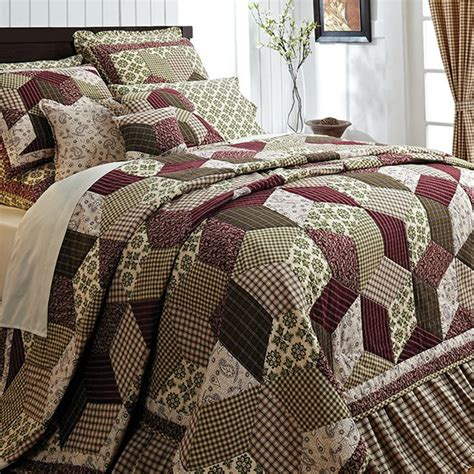quilt bedding sets king details about burgundy green country paisley block twin