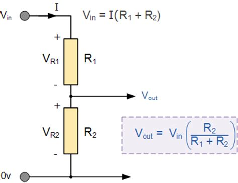 a resistor with resistance r is connected to a battery voltage divider rule electronics