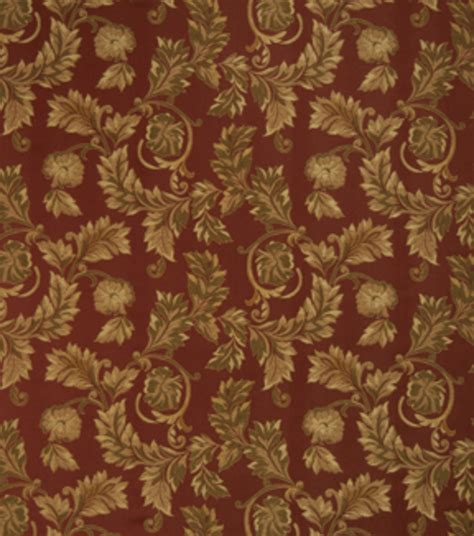 home decor print fabric eaton square ornate russet floral