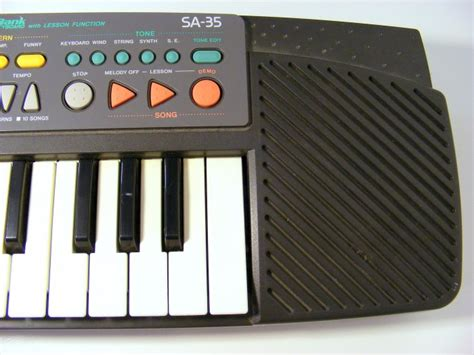 Keyboard Casio Sa 35 Casio Sa 35 Vintage Casio Keyboard Synthesizer Songbank