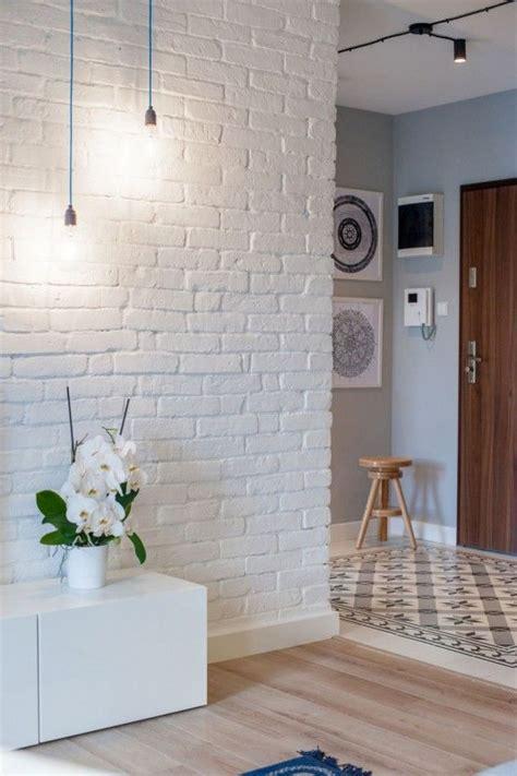 create  elegant statement   white brick wall