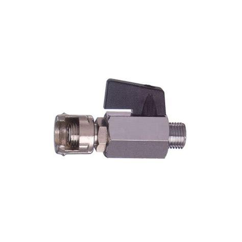 rubinetto compressa rubinetto di linea con dado fresato 3 8