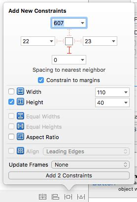 auto layout button height ios auto layout not set properly when give equal width