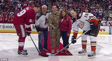 review nhl 15 has great moments surrounded with dan urman surprises parents at nhl game after afgahanistan