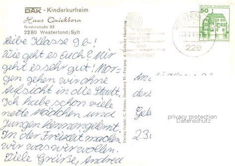 haus quickborn sylt ak ansichtskarte westerland sylt fliegeraufnahme dak