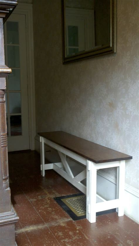 ana white large rustic  bench diy projects