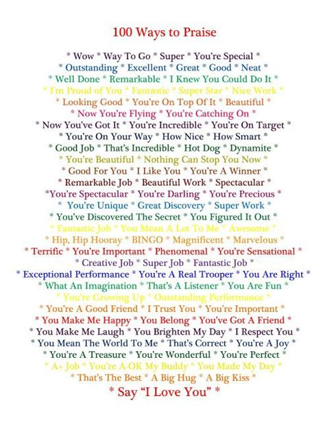 take a compliment 50 posters to pin and treasure books 100 ways to praise your child printable from celtic