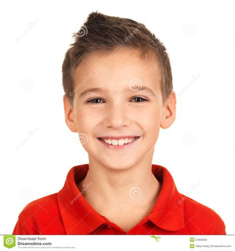 Portrait Of Adorable Young Happy Boy Stock Image Image Of Human Positive 27903659 Boy Images Free