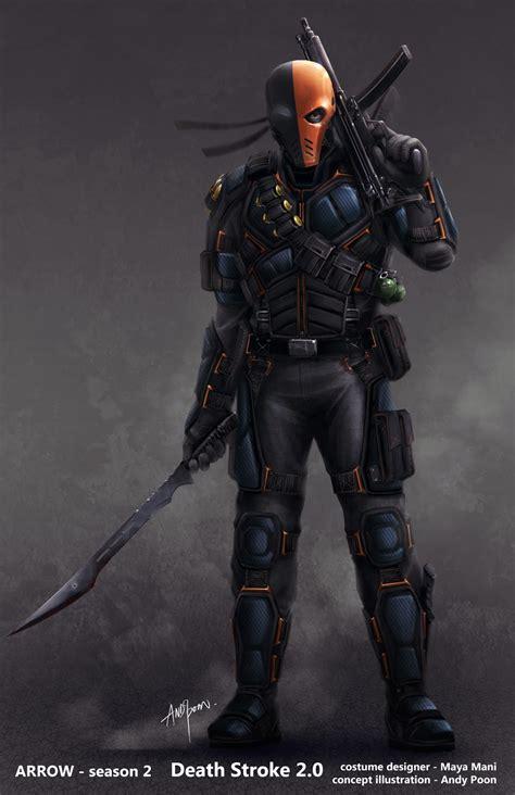 Tas Ransel Boneka Karakter Batman Superheros Marvel 2 des concept arts du masque de deathstroke pour arrow dcplanet fr