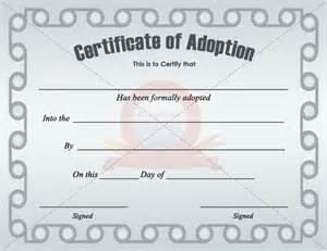 adoption certificate templates 42 best images about adoption certificate templates on