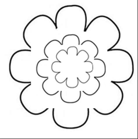 paper flower cut out template paper flower template clipart best