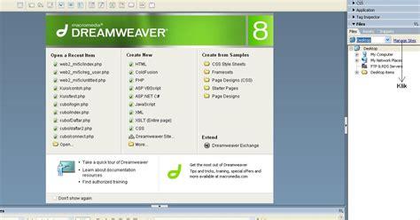 membuat website dengan php di dreamweaver membuat koneksi database php mysql di dreamweaver 8 ilmu