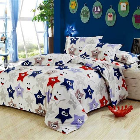 red and blue bedding blue and red cute stars teen kids bedding set full size