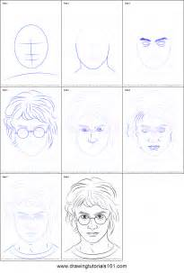 how to draw harry potter printable step by step drawing