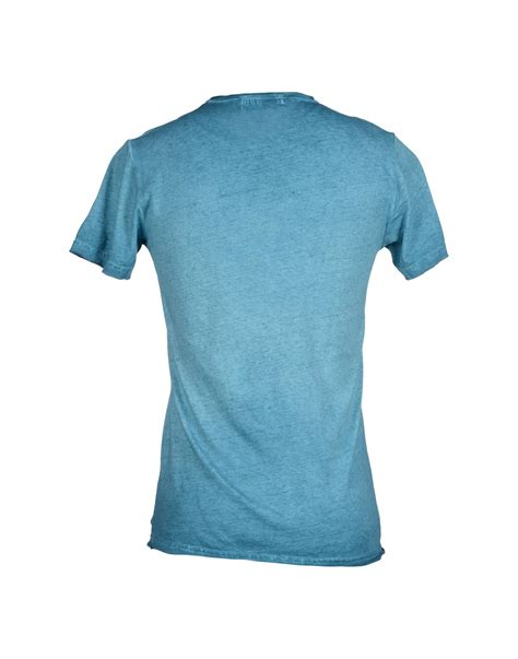 athletic vintage t shirt in blue for turquoise lyst