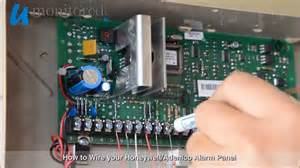 honeywell how to wire your alarm panel youtube