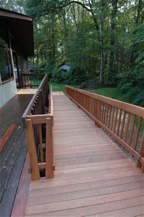 deck house handicap access ramp traditional landscape