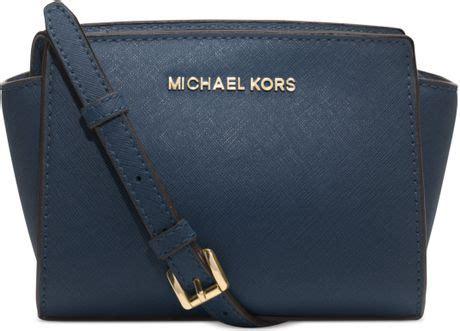 Tas Michael Kors Selma Mini michael kors selma saffiano studded leather mini messenger blue car interior design
