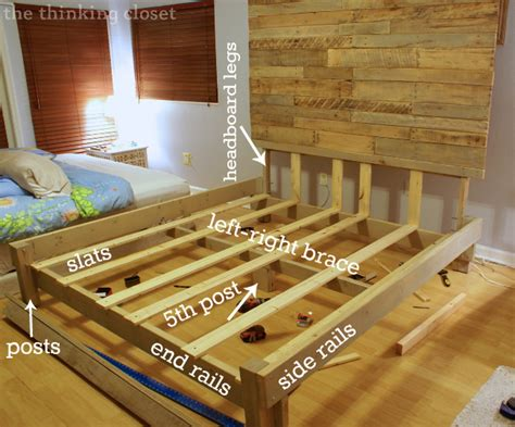 how to build a bed headboard and frame pdf diy build wood king bed frame download best