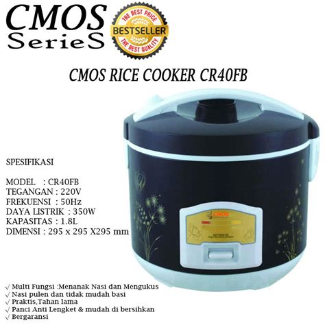 Rice Cooker Cmos new promo cmos series aneka rice cooker 08 l 18