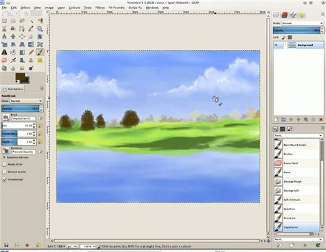 gimp tutorial landscape landscape painting using gimp paint studio doovi