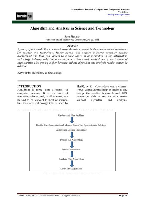 international journal of design analysis and tools for integrated circuits and systems international journal of algorithms design and analysis vol 2 issue 1