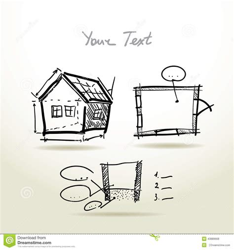 house plan vector hand drawn house plan sketch project for your stock vector image 43889668