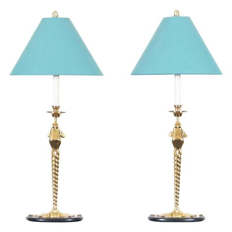 vintage brass frogs lamps  chapman  sale  stdibs
