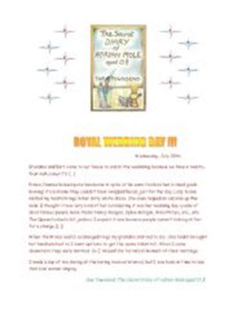 printable diary extracts english teaching worksheets the secret diary of adrian mole