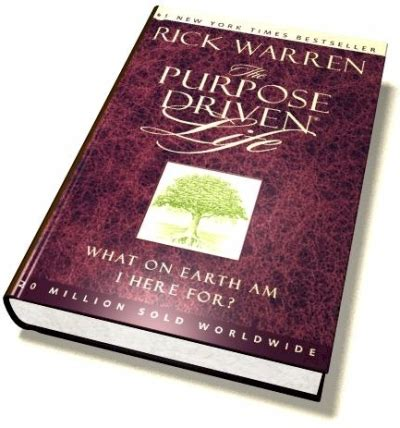 purpose driven the suggested book by rick warren