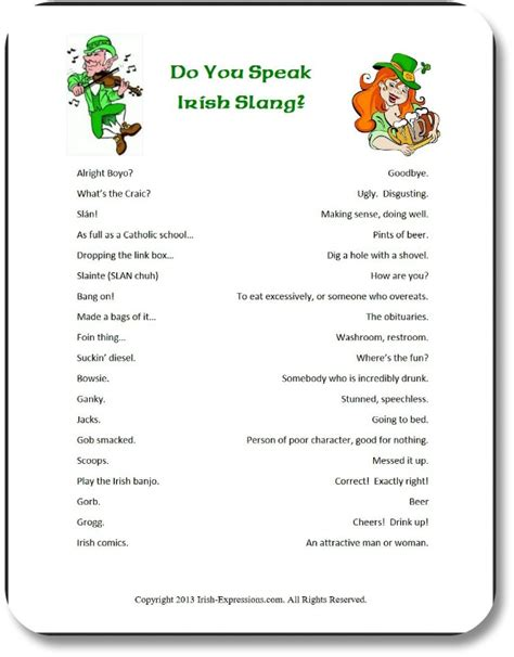 printable irish word games irish party games entertain guests with fun expressions