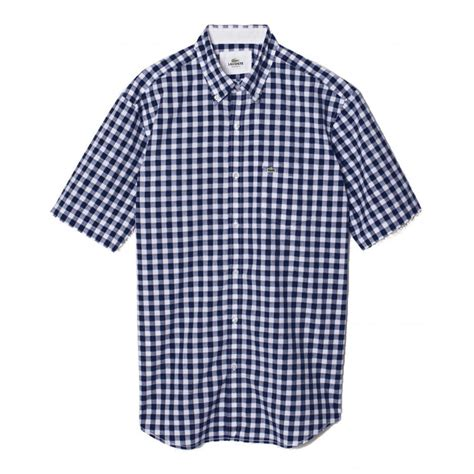 Checked Shirt lacoste regular fit checked shirt lacoste from gibbs