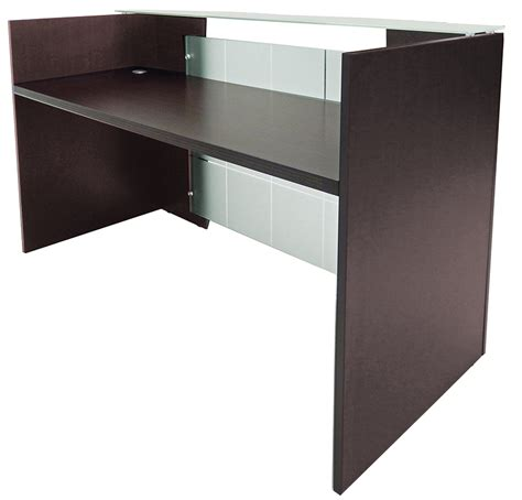 Glass Reception Desk Glass Front Reception Desk In 5 Colors