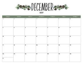 Calendar December 2017 December 2017 Printable Calendar Template Free Printable