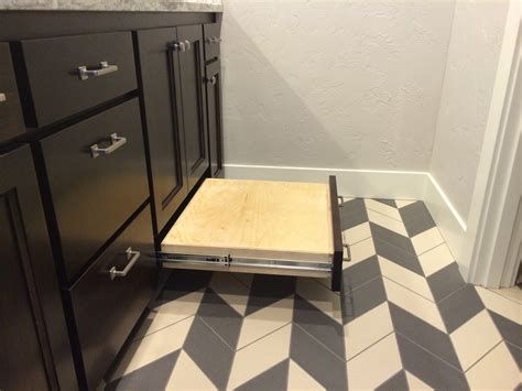 Modern Bathroom Floor Tile Ideas Enjoyable Black Polished Wooden Vanity Bathroom With