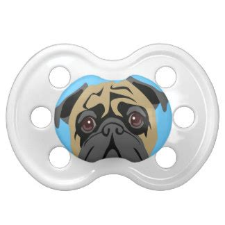 cuddly pug pug dummies baby soothers zazzle co uk