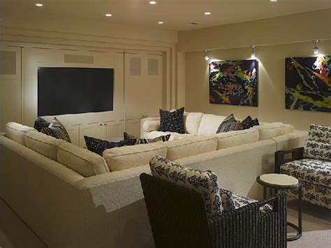media room couches pit sectional contemporary media room