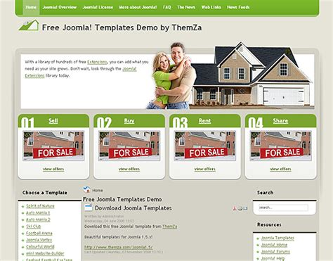free joomla 1 5 x templates real estate by themza