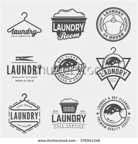 imagenes vintage laundry vector set laundry logos emblems design stock vector