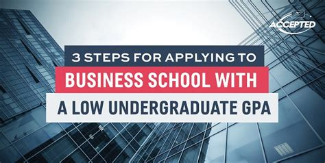 Getting Mba With Low Gpa by 3 Steps For Applying To Business School With A Low
