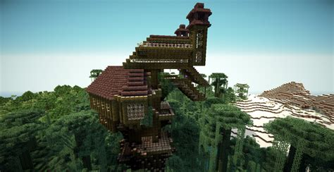 coolest treehouse in the world minecraft treehouse minecraft project