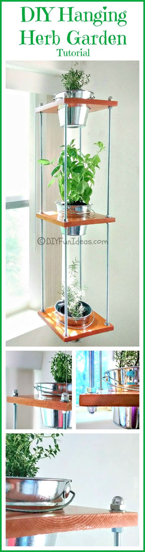 diy hanging herb garden diy hanging herb garden industrial style do it