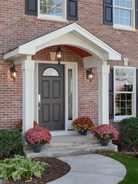 colonial front porch designs colonial portico houzz