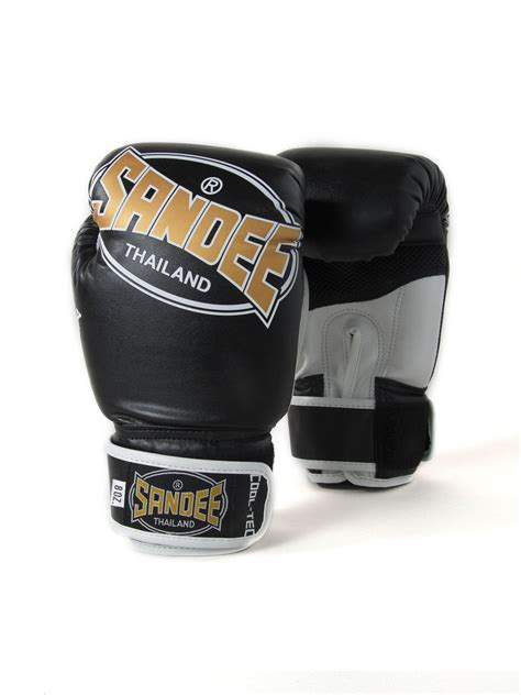 Five Sf 1 Gloves Whitegold sandee cool tec velcro black gold white synthetic leather boxing glove
